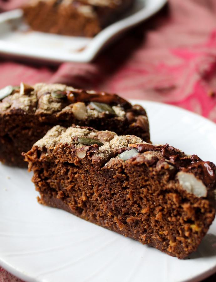 Plumcake cioccolato e zucca