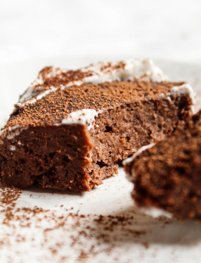 Brownies ai fagioli al microonde