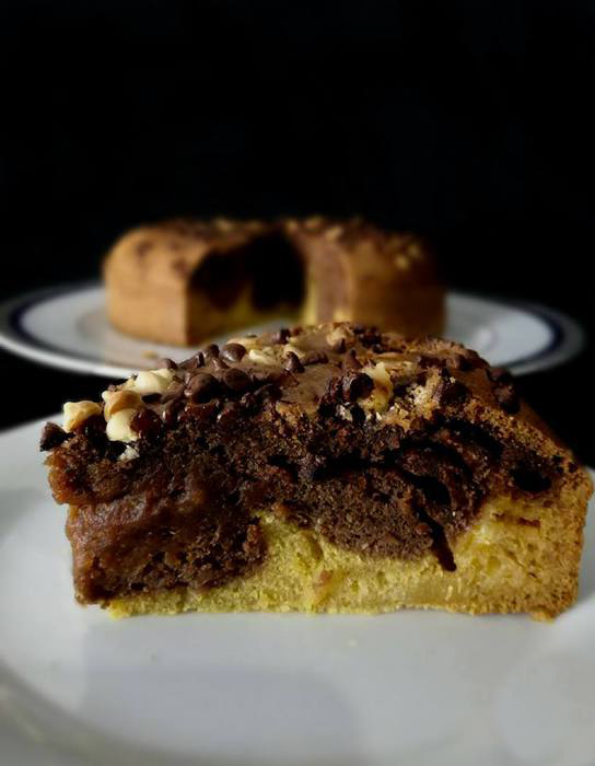 Torta alla zucca e cioccolato